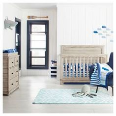 By the Sea Nursery Room - Cloud Island™ : Target Baby Boy Bedding, Crib Bedding Sets, Baby Boy Rooms, Baby Boy Nurseries, Baby Room, Room Boys, Baby Crib, Crib Sheets, Baby Quilts