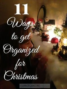The Christmas Season is in FULL swing! So, I'm sharing my own ideas and a few others, to get organized for Christmas! So, I've brought you 11 ways to organize and hope it helps you through the busy holiday! Christmas Is Coming, Christmas Love, All Things Christmas, Winter Christmas, Merry Christmas, Christmas Ideas, Christmas Sweets, Christmas Goodies, Christmas 2019