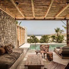 Kos' new hotel is Casa Cook - Elle Decor Italia Patio Design, Exterior Design, House Design, Casa Cook Hotel, Hotels, Outdoor Living, Outdoor Decor, Backyard Patio, Architecture Design