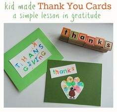 Kid made Thank You cards (& lessons in gratitude)