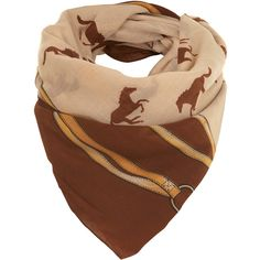 Equestrian Horse Scarf, found on #polyvore. #scarves #accessories #women