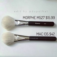 """@mrandmrsdomine found an amazing brush dupe! The @morphebrushes M527 ($15.99 - 10% off with code """"dupethat"""") is almost identical to the MAC 135 ($42)! Tag us in your dupes for a chance to be featured! by dupethat"""