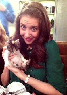 """Community cutie, Alison Brie as Annie. As Mike Meyers once said, """"she stole my heart and my cat!"""""""