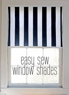 easy sew window shades (perfect for beginning sewers)
