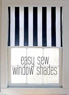 easy sew window shad