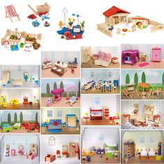 #Dolls #house furniture wooden #dolls #house accessories miniatures set - new,  View more on the LINK: http://www.zeppy.io/product/gb/2/331667130494/