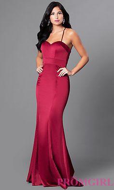 Mermaid Satin Sweetheart Formal Dress with Train at PromGirl.com