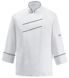 CHAQUETA COCINERO BLACK LINE EGOCHEF  Mod. 106005 60% Cotton - 40% Polyester