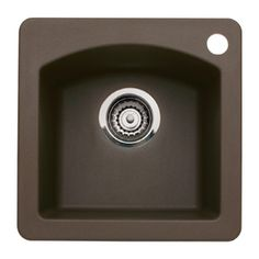 BLANCO Diamond Cafe Brown Single-Basin 1-Hole Granite Residential Bar Sink