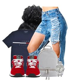 A fashion look from May 2016 featuring New Balance sneakers and MICHAEL Michael Kors backpacks. Browse and shop related looks. Sporty Outfits, Dope Outfits, Cute Summer Outfits, Girl Outfits, Fashion Outfits, School Outfits, Disney Fashion, Teenager Outfits, Black Girl Fashion