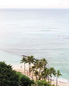 Waking up to sunrise & surfers 🏄♀️ ☀️ 🏝