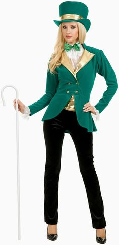 Pretty Saint Patty Adult Costume Be the focus of attention with this pretty saint costume and look prettiest in the party and be the spotlight wherever you go.