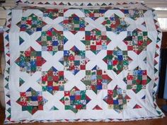 SCROLL DOWN TO SEE THE VIDEO 4 Patch & X's & O's This Quilt Looks Complex But Technically It's Very Simple. The X's and O's uses the Stitch and Flip Method. If you make another stitch parallel to the corner to corner stitch 1/2″  to the outside corner, you can make yourself some half Square …