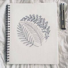 39 Ideas plants tattoo botanical drawings for 2019 Bullet Journal Ideas Pages, Bullet Journal Art, Bullet Journal Inspiration, Doodle Drawings, Easy Drawings, Doodle Art, Pencil Drawings, Diy Letters, Letter A Crafts