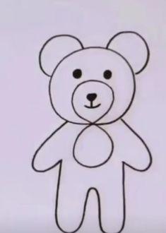 Easy Cartoon Drawings, Easy Drawings For Kids, Art Drawings Sketches Simple, Doodle Drawings, Drawing For Kids, Doodle Art, Kid Drawings, Easy Animal Drawings, Easy Art For Kids