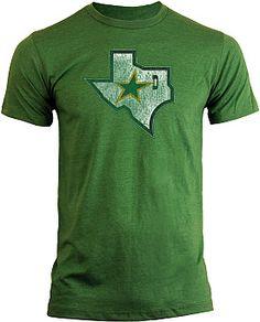 Old Time Hockey Dallas Stars Heathered Logo T-shirt