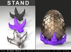 STAND for Dragon Egg Game of Thrones Ring Box  proposal ring