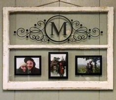Vintage Two Pane Window Personalized Last by VaughnCustomCreation. Monogram. Initial. Simplicity. Simple Design. Picture Frames. Home Decor. Wall Decor. Anniversary Gift. Wedding Gift. Wedding Decor. PERSONALIZED FOR YOU!