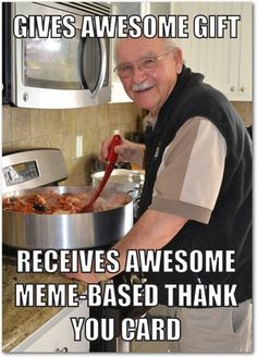 Meme Thank You Greeting Cards from treat.com
