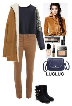 """""""Fall outfit LUCLUC"""" by eliza-redkina ❤ liked on Polyvore featuring Dorothy Perkins, Zara, Bobbi Brown Cosmetics, NARS Cosmetics, Burberry, Giorgio Armani and Rupert Sanderson"""