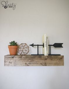 Check out our YouTube Video Tutorial and FREE plans to build your own DIY Floating Shelves!