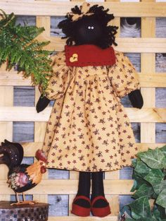 E Pattern Polly Felt Doll Ragdoll Printable by CalicoCottageCrafts
