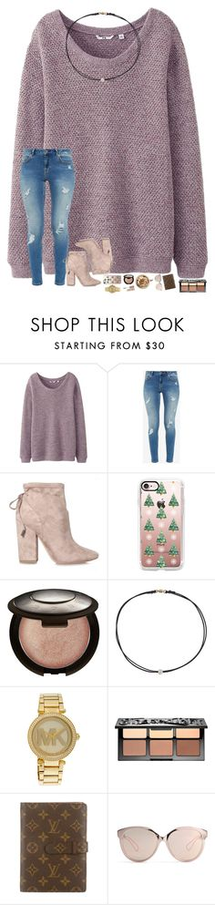 """what is the main thing on y'all's Christmas list?"" by hopemarlee ❤ liked on Polyvore featuring Uniqlo, Ted Baker, Kendall + Kylie, Casetify, Becca, Dogeared, Michael Kors, Sephora Collection, Louis Vuitton and Christian Dior"