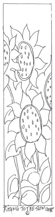 Sunflower rug hooking pattern