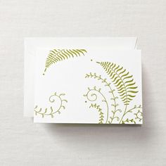 Letterpress Fern Note, $18 for box of 10 from Crane & Co.