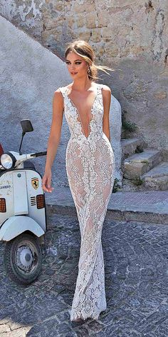 18 Muse by Berta Wedding Dresses For 2018 ❤ muse by berta wedding dresses sheath v neckline full lace 2018 ❤ Full gallery: https://weddingdressesguide.com/muse-by-berta-wedding-dresses/ #bridalgown #weddingdresses2018 #wedding #bride