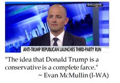 Independent Presidential Candidate Evan McMullin on Republican nominee Donald Trump