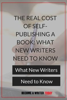 The Real Cost of Self-Publishing a Book: What New Writers Need to Know Freelance Writing Jobs, Writing Advice, Writing Skills, Writing A Book, Writing Prompts, Creative Writing Ideas, Becoming A Writer, Psychology Books, Self Publishing