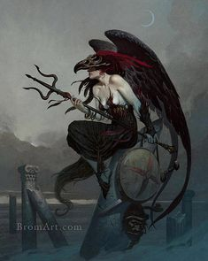 Red Wing - by Gerald Brom | Featured Artist on the Fantasy Gallery