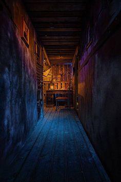 Corridor lighting for a haunt