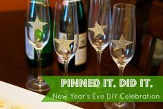 LOVE this DIY New Year's Eve guest post from Meg for our Pinned it. Did it. series. So many fun and easy and lovely ideas!