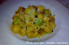 Pasta con le fave, pancetta e pomodorini http://blog.giallozafferano.it/chiodidigarofano/pasta-con-le-fave-pancetta-e-pomodorini