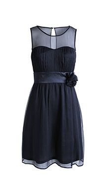 delicate flowing crinkle chiffon dress