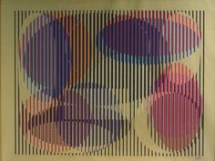 """Yaacov Agam, Israeli, b.1928, """"Cosmic Relationship"""", 1979, Gold Mylar with Serigraph in Colors"""
