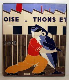 Deux nouvelles fresques sur céramique d'Olivier Lapicque viennent de faire leur entrée à la galerie.   Ces deux panneaux, pièces uniques su... Dundee, Gravure Illustration, Cool Posters, Vintage Advertisements, Art And Architecture, Brittany, Illustrations, Unesco, Advertising