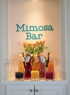 Mimosa bar- Bride getting ready