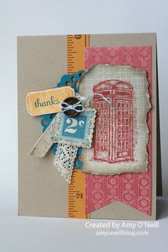 Stampin' Up! Card  by Amy O'Neill at Amy's Paper Crafts: thanks