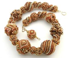Beaded Bead Necklace  Colors of Summer 2  by by TheBeadedBead, $950.00