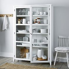 Glass Display Cabinet White company