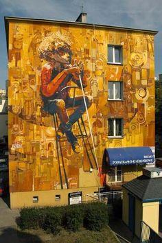 Wall mural by Tone in Lublin, Poland #tone #art #streetart jd