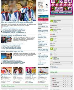 419 – The newspaper focuses on Chris Hoy's fifth Olympic gold medal, despite Michael Phelps winning his 16th gold medal. This is highlighted by the amount of space given to each article and the size of photos. The newspaper has given more attention to Hoy's win as he represents Team GB, whereas Phelps competes for the USA. However, coverage of Team GB's other medal success pales in comparison. The article focuses on multiple sports and athletes aren't afforded their own individual attention.