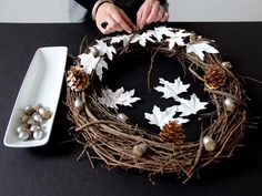 Make a Rustic-Modern Door Wreath for Thanksgiving >> http://www.diynetwork.com/decorating/make-your-own-thanksgiving-door-wreath/pictures/index.html?i=1?soc=pinterest