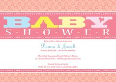 Customizable baby shower invitation template - A New Star Is Born