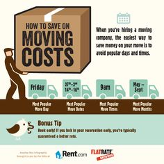 Moving can be a big expense, but you can save money simply by doing a bit of planning. Moving House Tips, Moving Costs, Moving Home, Moving Day, Moving Tips, Moving Hacks, Move On Up, Big Move, Organizing For A Move