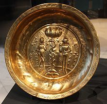 Bronze and brass ornamental work - Wikipedia, the free encyclopedia Repoussé and chased brass dish with Adam and Eve, Germany 16th century
