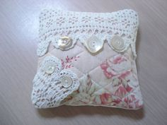 Romantic Sachet Pin Cushion  5 Antique MOP by backgatecottage